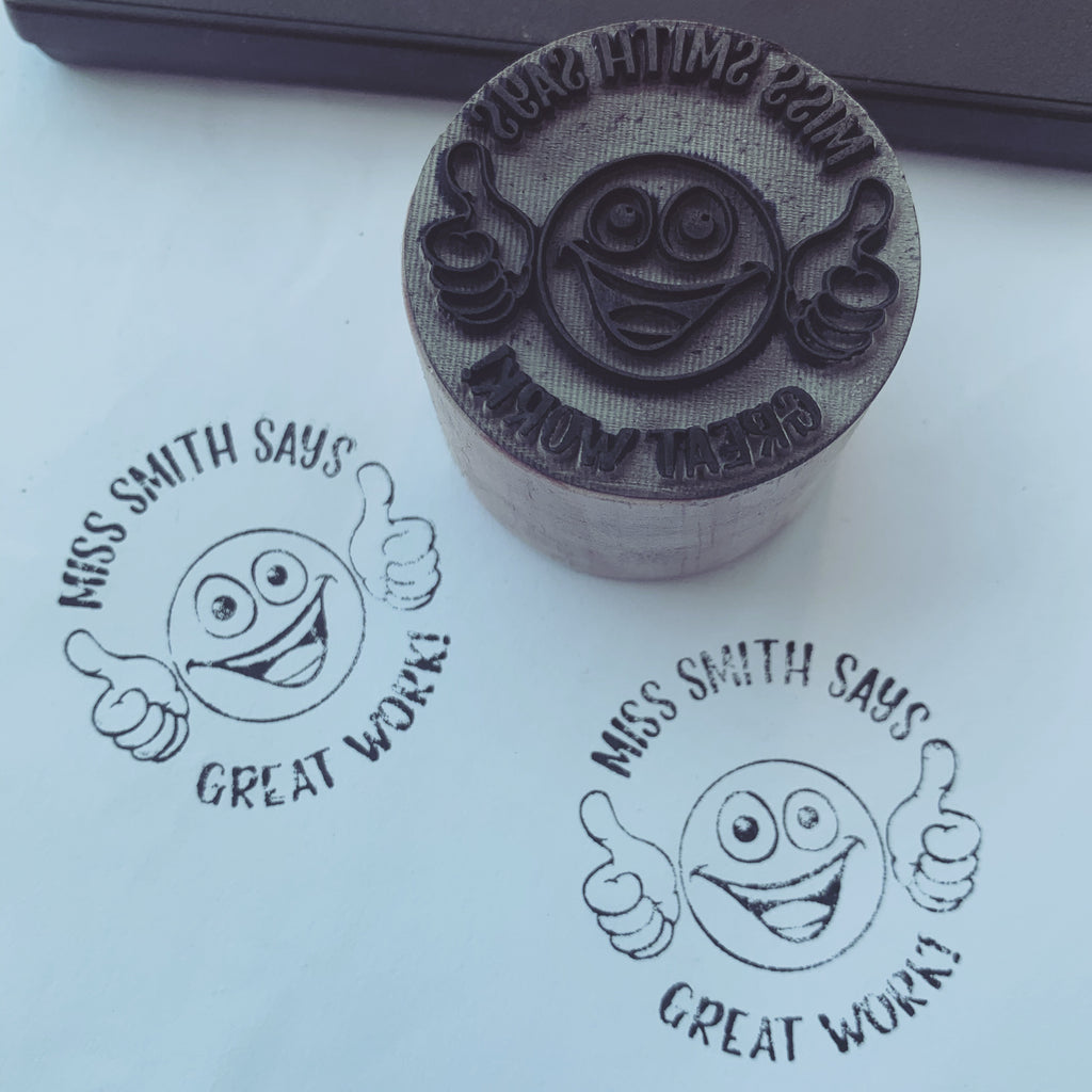 Smiley Face Teacher Stamp