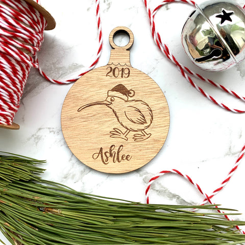Christmas Kiwi bauble