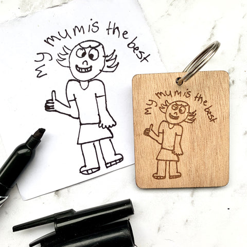 Artwork Wood Keyring