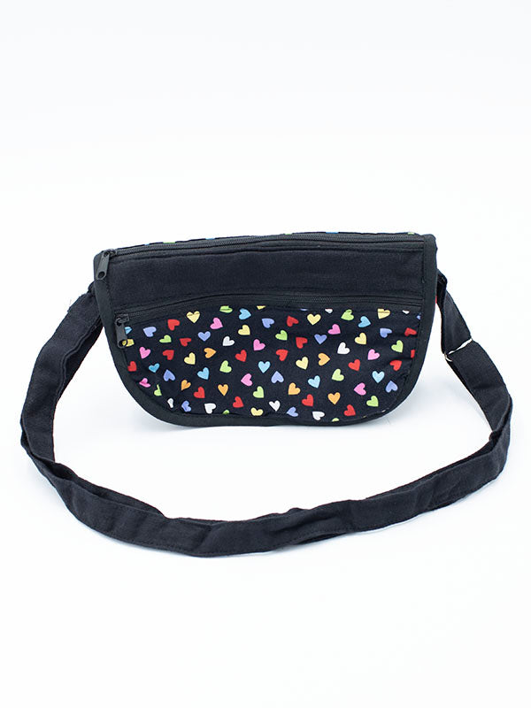 Small Bag Black with Small Hearts