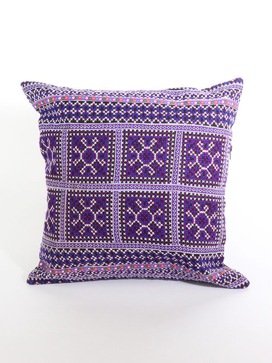 Purple Geometric Pattern Cushion
