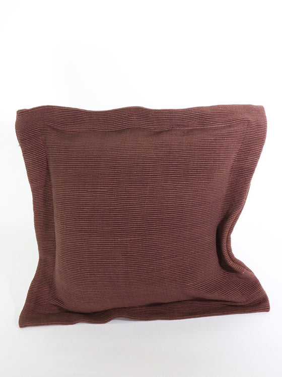 Brown Cotton Cushion