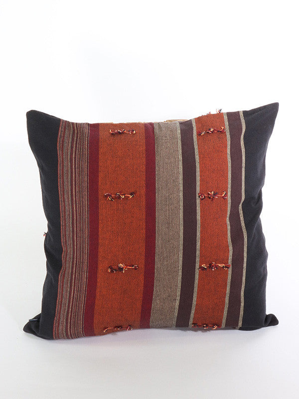 Hill Tribe Dark Brown Cushion