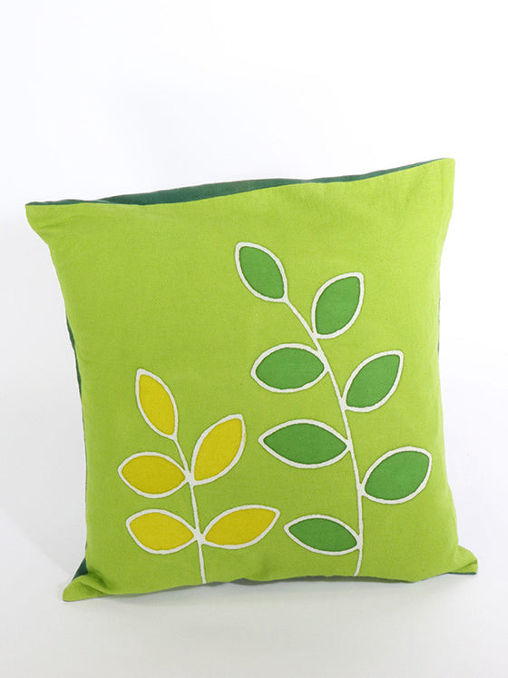 Lime Green Batik Leaf Pattern