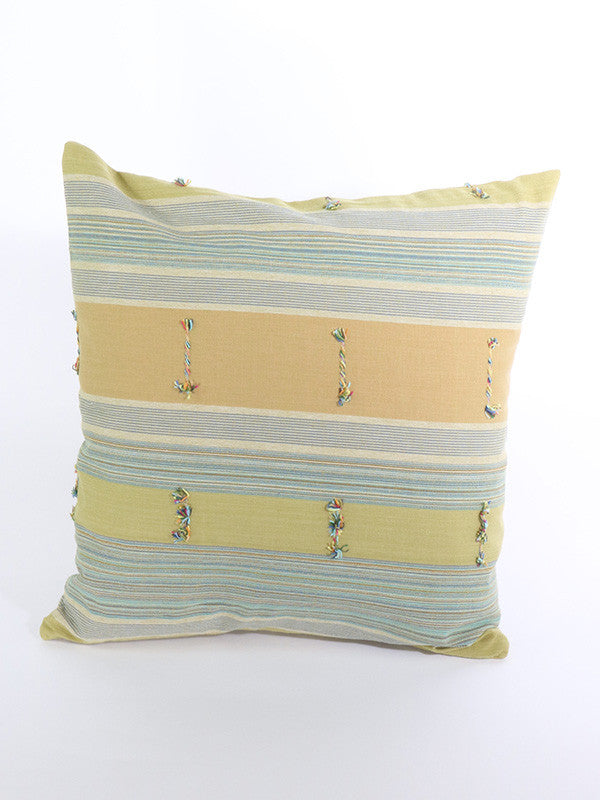 Hill Tribe Light Green Cushion
