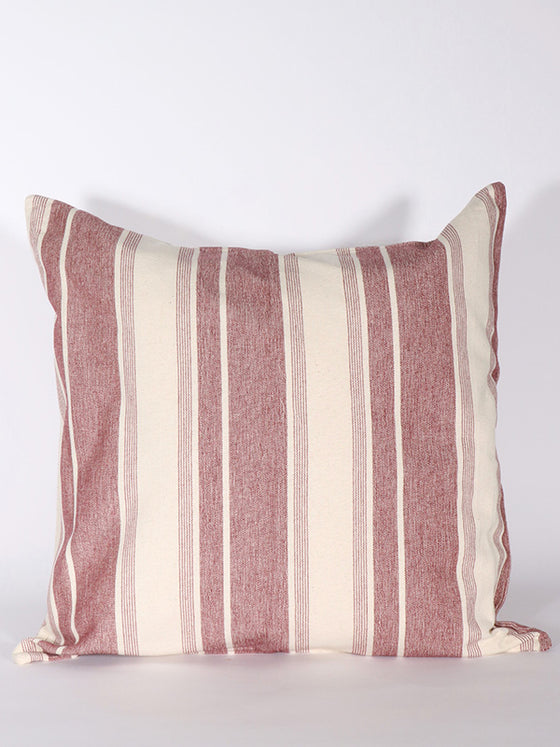 Soft Pink Strip Cushion
