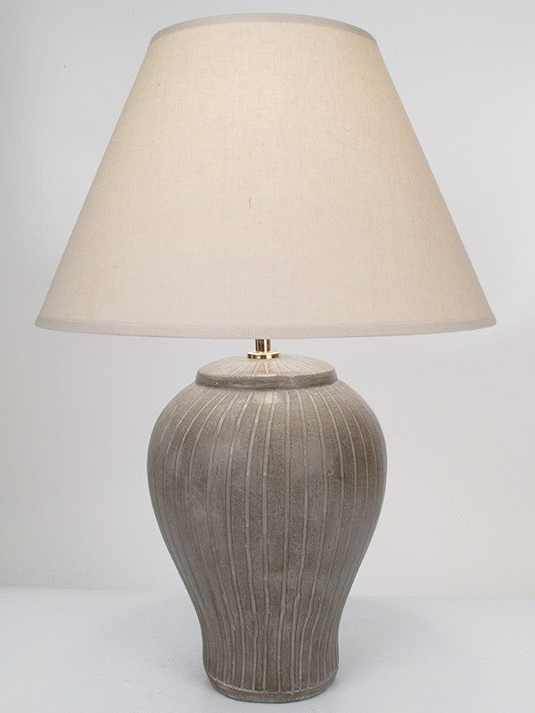 Striped Lamp Small Taupe