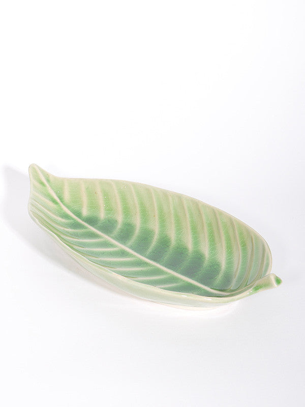 Leaf Shape Plate - Green