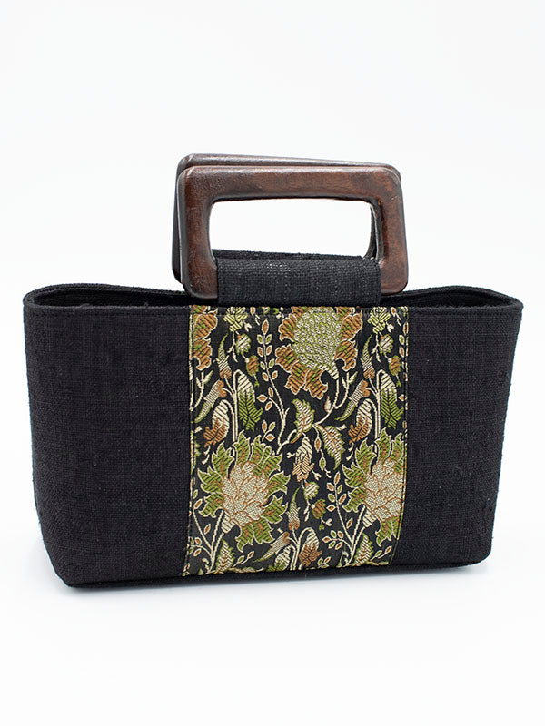 Green and Black Liberty Print Handbag