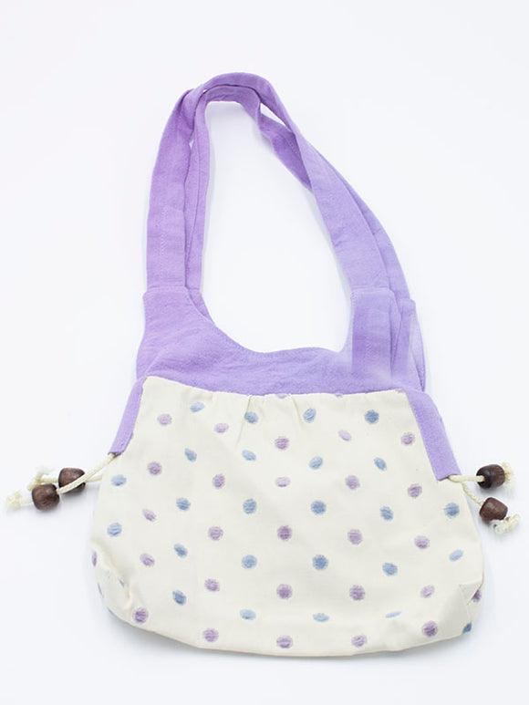 Pretty Purple Dotty Handbag