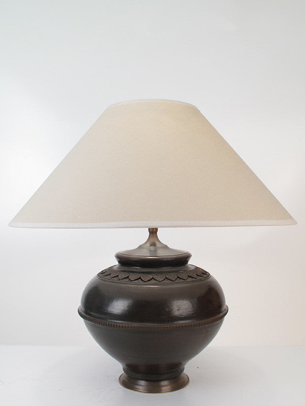 Water Pot Lamp Medium Earth Black