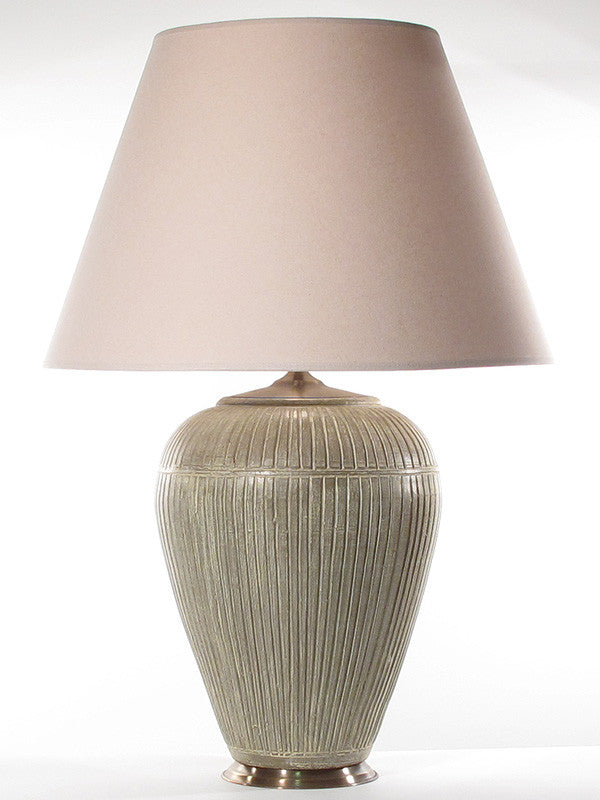 Striped Lamp Large Taupe