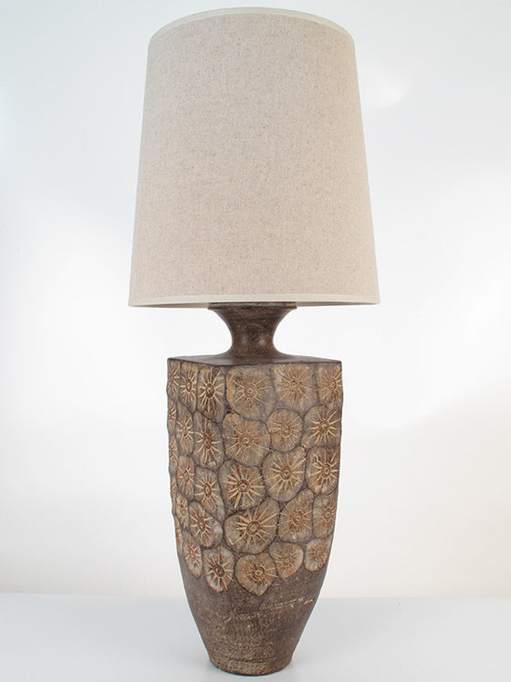 Etched Lilly Lamp