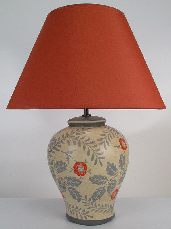 Wild Rose Lamp Medium Ochre