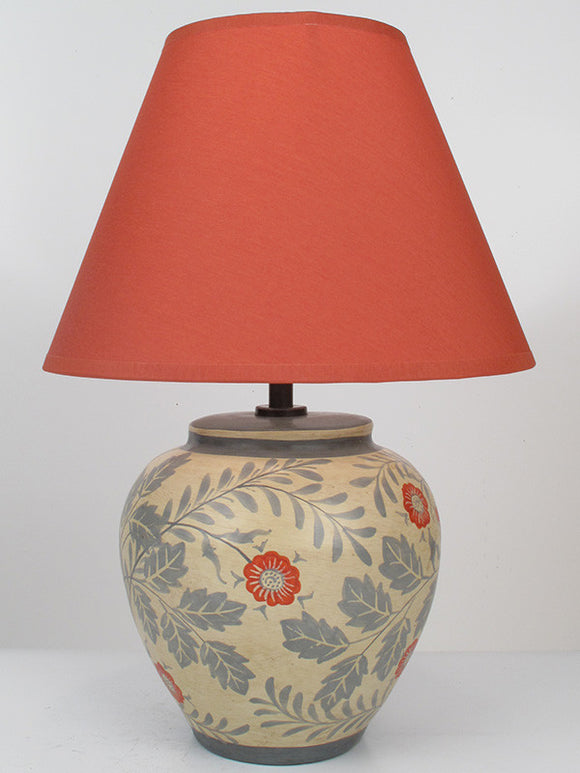 Wild Rose Lamp - Bedside