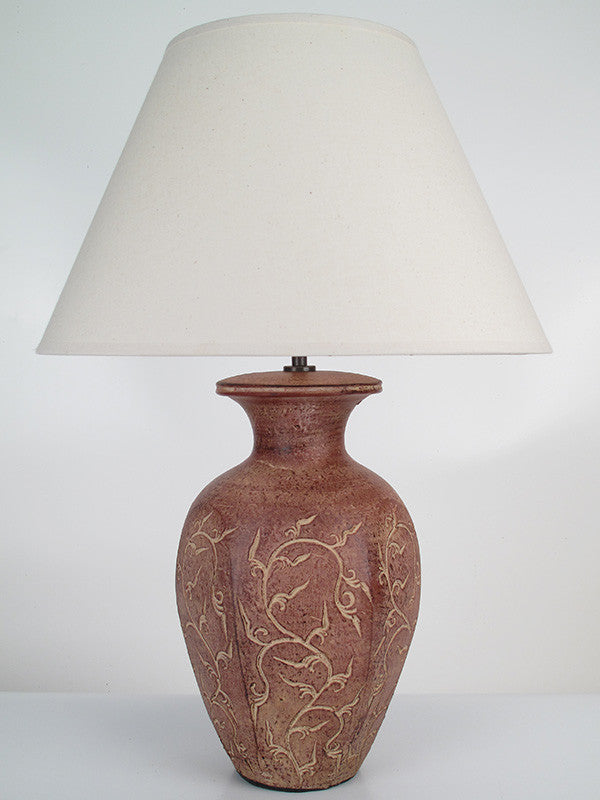 Etched Vine Lamp