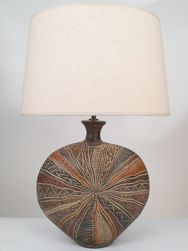 African Shield Lamp - Brown - Large