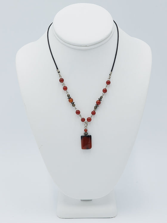 Square Bead Necklace