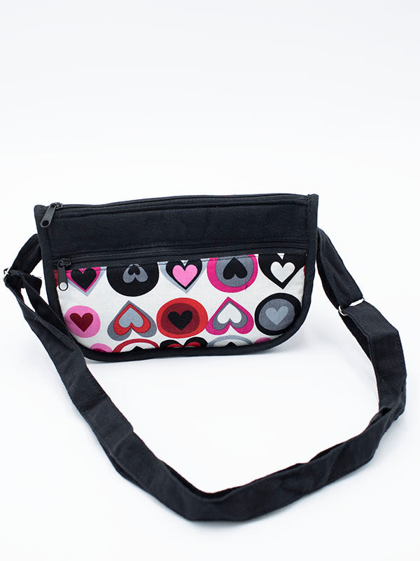Small Bag with Big Hearts Pattern