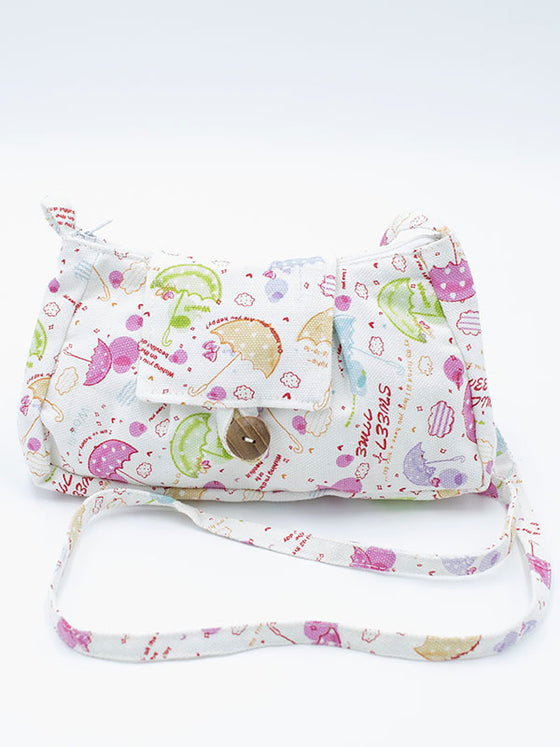 Small Bag with Umbrella Pattern