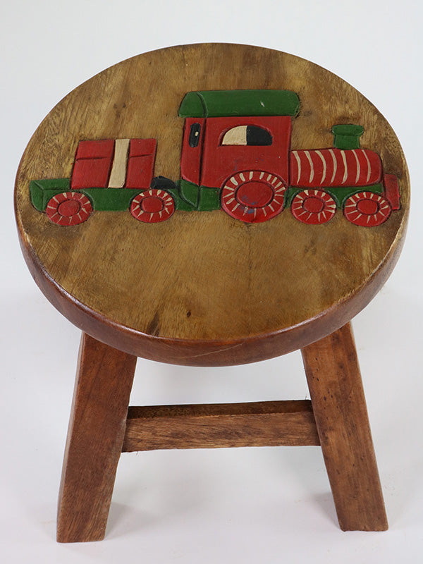 Children's Stool - Red Train