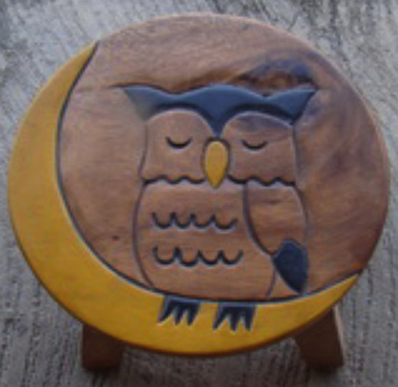 Owl and the Moon Kiddie Stool