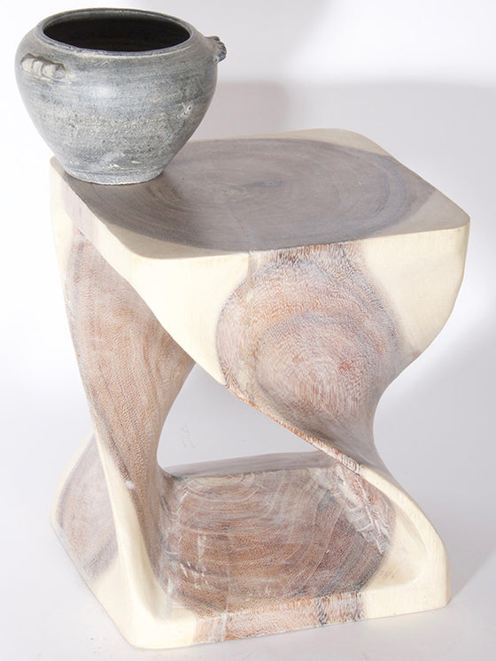 "12"" Twist Table - Limewash"