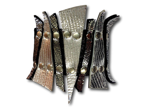 Handmade leather SPIKE bracelet (various colors) - EvilEve leather luxury fashion