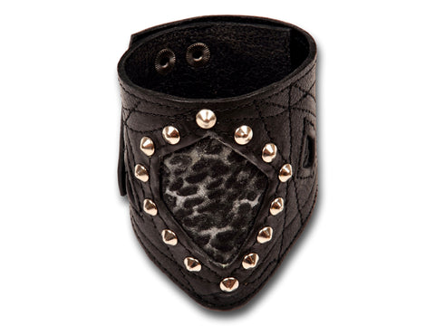 Classic stylish leather bracelet for men - EvilEve leather luxury fashion - 1