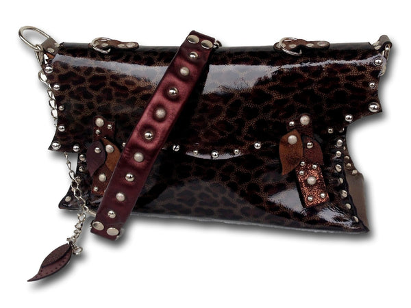 Handmade leather bag (brown/tiger) - EvilEve leather luxury fashion - 1