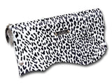 Handmade leather clutch (black/white) - EvilEve leather luxury fashion
