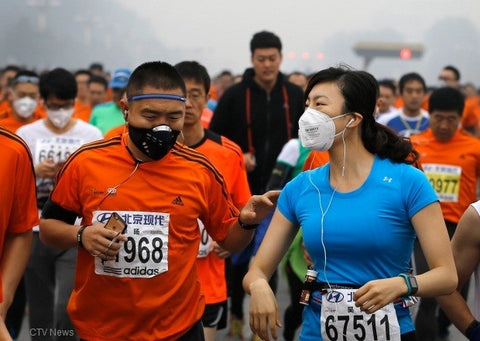 Running in Polluted air