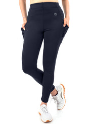 Women's Stretchy Active Legging with 2 Side Pockets - Navy