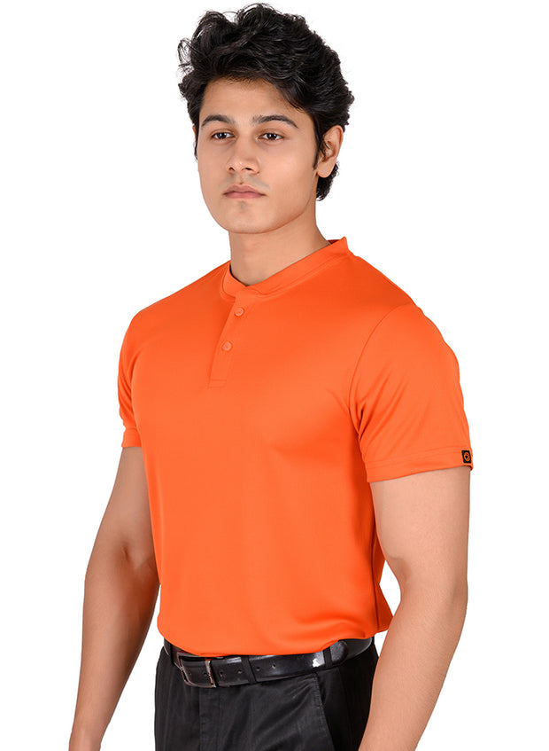 Performance Golf & Sports Henley Tshirt for Men - Orange