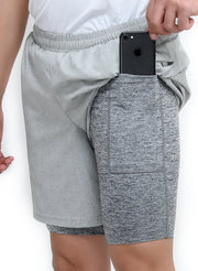 "7"" SPS-II Sports Shorts with Phone Pocket - Men's Anthra Light Grey"