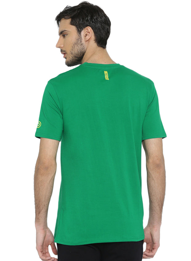 Active Comfy Stretch Cotton Yoga Tshirt - Men's Green TRUEREVO