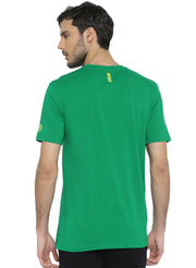 Active Comfy Stretch Cotton Yoga Tshirt - Men's Green