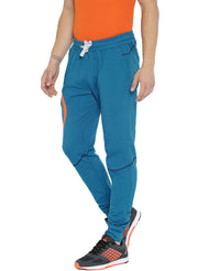 Stretch Cotton SlimFit Activewear TrackPant - Mykonos Blue