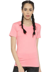 Active Comfy Cotton Yoga TEE - Women's Rose Pink