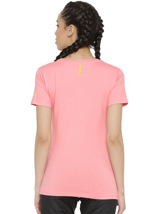 Active Comfy Stretch Cotton Yoga Tshirt - Women's Rose Pink TRUEREVO