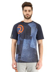 Statement Training & Sports Tshirt- Printed Navy