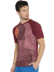 Statement Training & Sports Tshirt- Printed Maroon