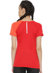 Slim Fit Ultra Light Running TEE - Women's Red Peach