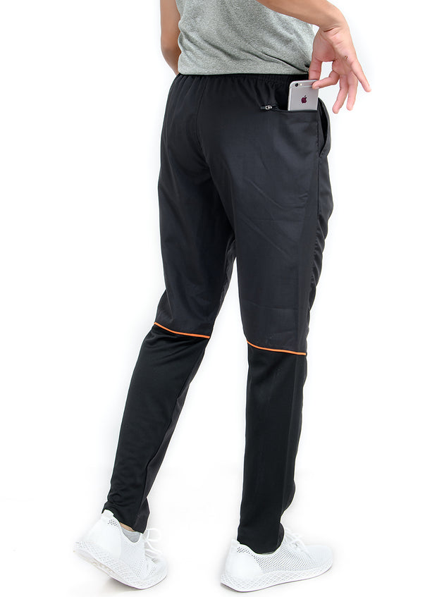 Combo - Zipper Pocket Track Pant & Dryfit Tshirt - Black & Blue