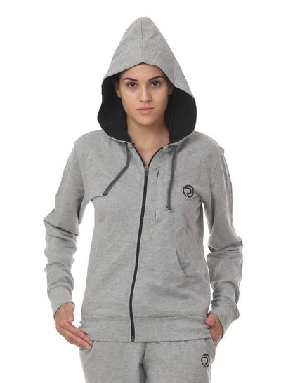 WOMEN'S  TRAINING HOOD JACKET - Grey