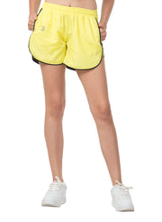 "5"" Running & Sports Shorts with Zipper Side Pockets - Lemon Yellow"