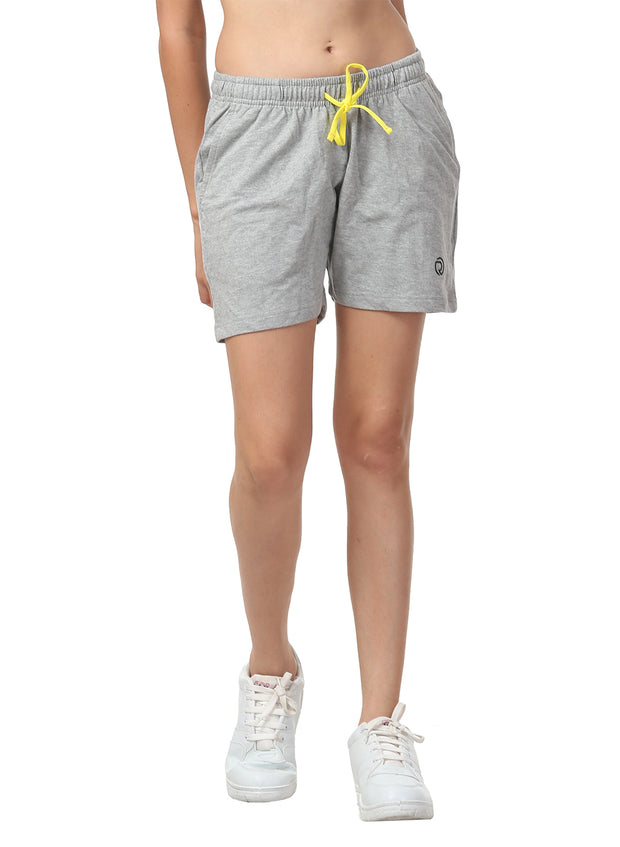 Women's Comfy Cotton Training Shorts - Milange Grey