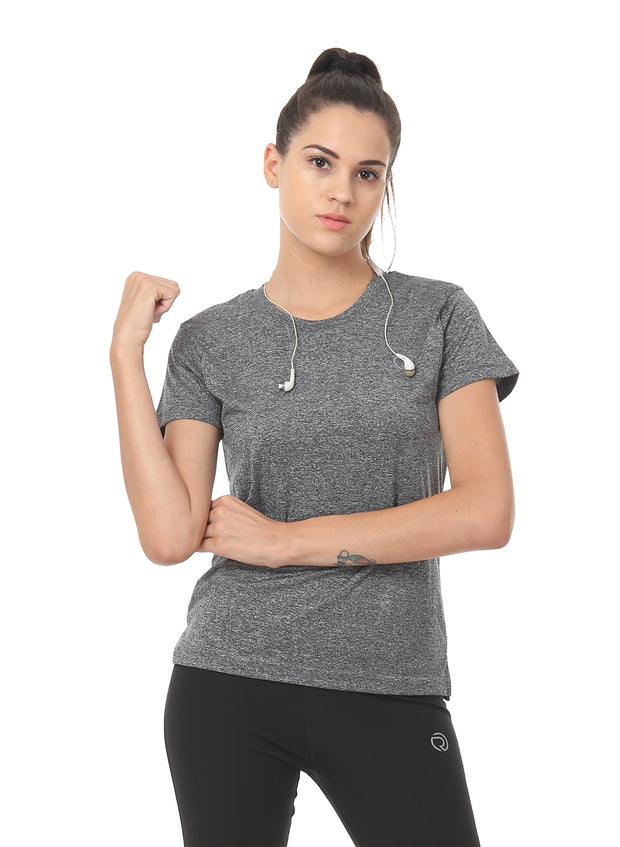 Light Dryfit Running & Sports Tshirt - DARK ANTHRA