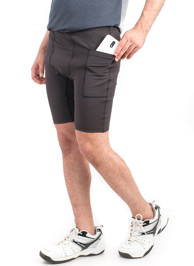 "2"" Detachable Shorts Combo with Phone Pocket - Black"