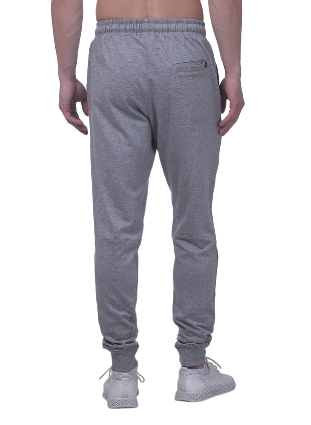 Training & Travel Jogger Pant with 2 Zippered side Pockets for Men - Milange Grey